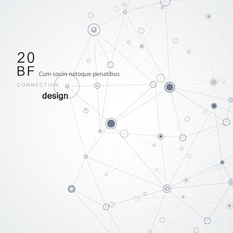 Negro moderno conectar líneas abstractas sobre fondo blanco para red de concepto y tecnología