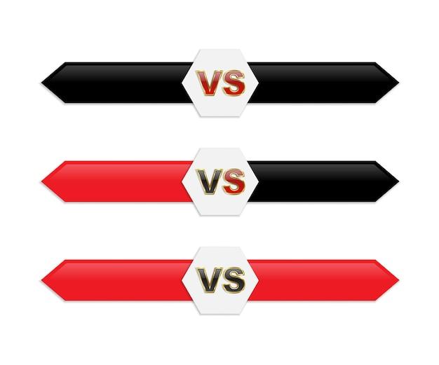 Negro y rojo aislado versus logo.