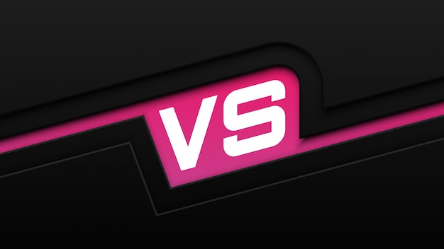 Negro y rosa versus fondo