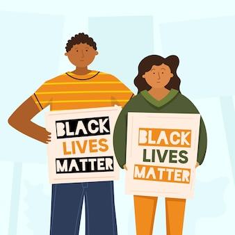 Negro vive la materia ilustrada