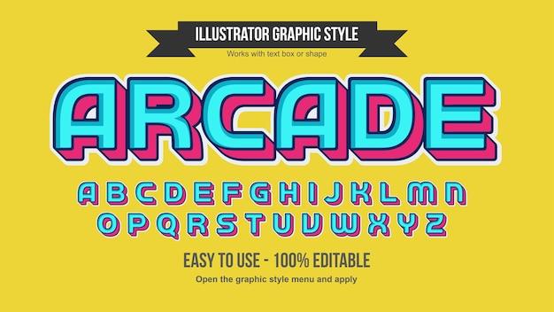 Neon blue modern gaming 3d letras aisladas