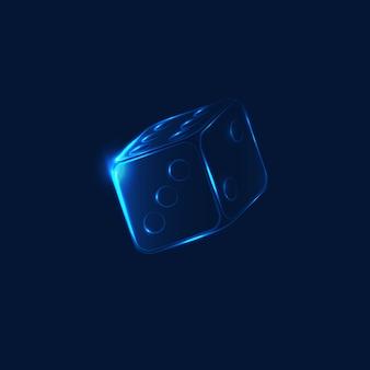 Neón cayendo hielo