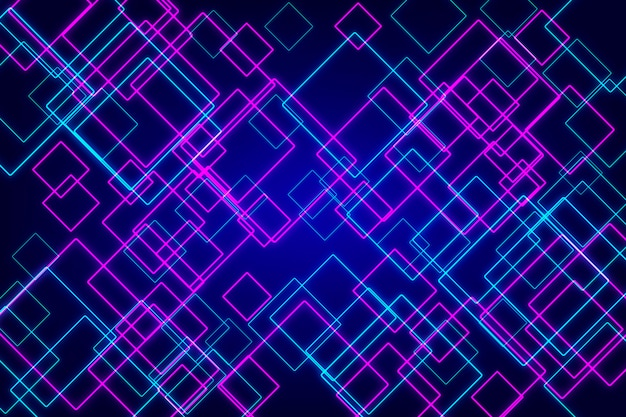 Neón geométrico abstracto