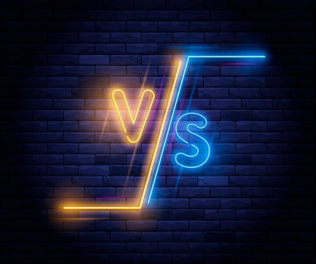 Neón iluminado versus pantalla