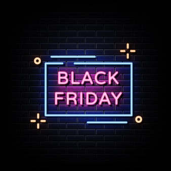 Neón del viernes negro