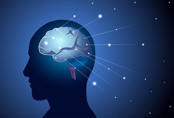 Neuronas del cerebro actividad medicina pensamiento inteligencia