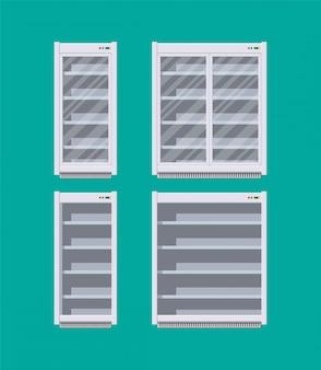 Nevera comercial moderna o refrigerador