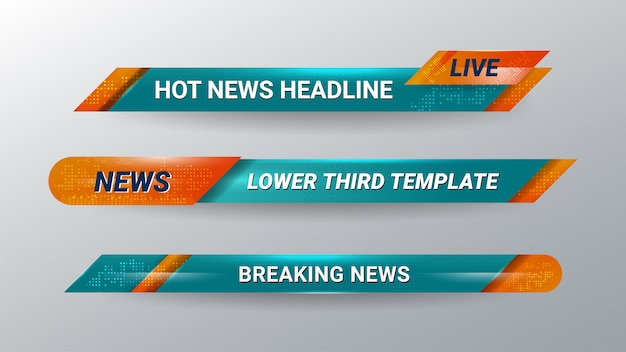 News lower thirds banner para televisión