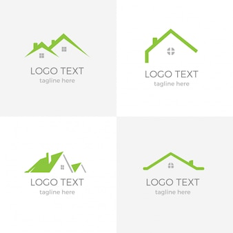 Nice real estate green logotipo