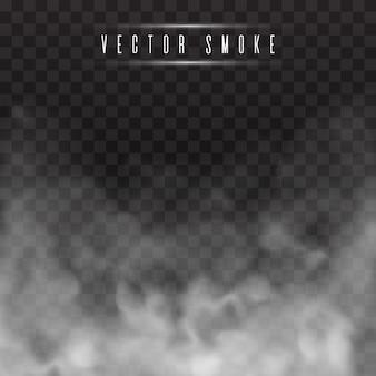 Niebla o humo aislado efecto especial transparente.