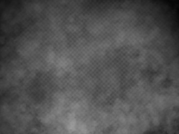 Niebla o humo aislado efecto especial transparente