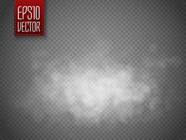 Niebla o ssmoke aislado. efecto especial transparente. vector blanco nubosidad, niebla o smog