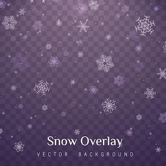 Nieve de navidad. nevadas, copos de nieve de diferentes formas.