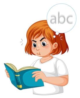 Una niña diabética con visión borrosa.