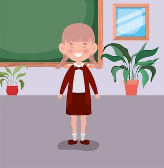 Niña estudiante en el aula
