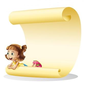 Una niña y una hoja de papel