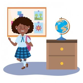 Niña niña de la escuela