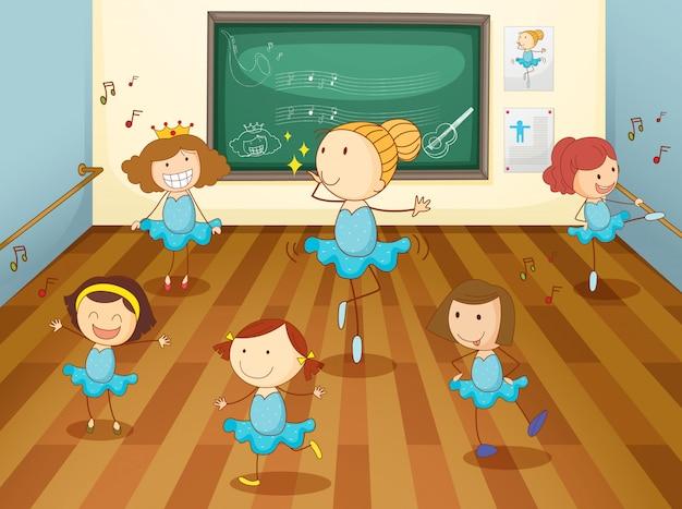 Niñas en aula