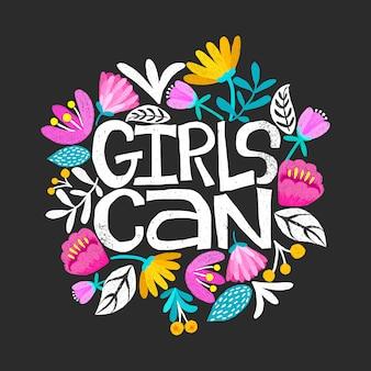 Las niñas pueden tarjeta