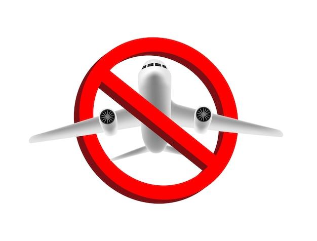 Ningún vector de signo de prohibición de vuelo de avión