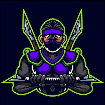 Ninja assassins muscle body builder logotipo