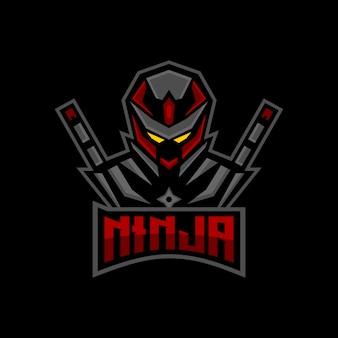 Ninja esports logo mascota de juegos