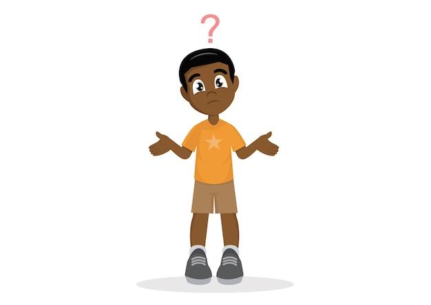 Niño africano confundido