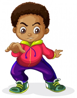 Un niño africano personajes