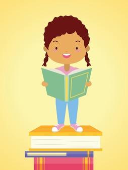 Niño en el día mundial del libro
