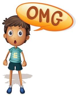 Un niño diciendo omg
