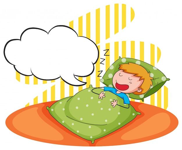Niño durmiendo y roncando