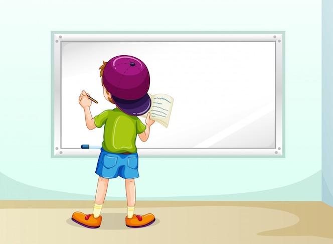 Niño escribiendo