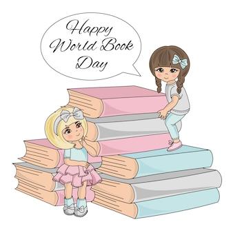 Niño libro infantil día mundial del libro niños