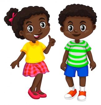 Niño y niña de haití