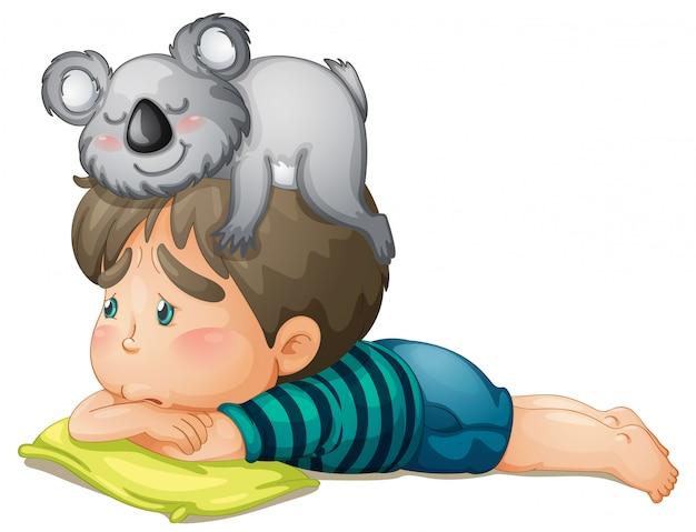 Niño y oso