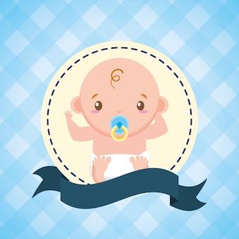 Niño pequeño con chupete