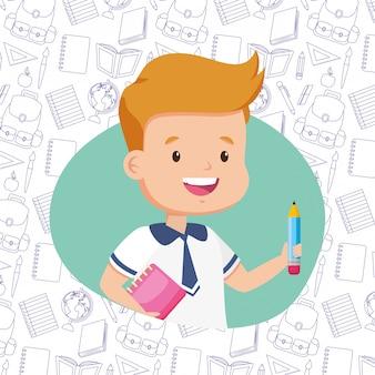Niño de regreso a la escuela
