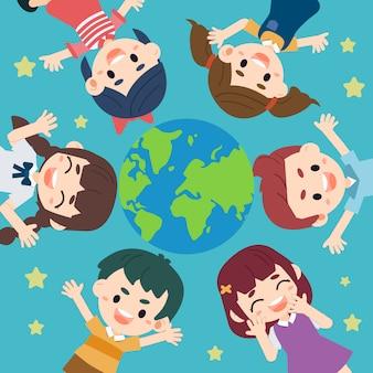 Niño salvar el mundo