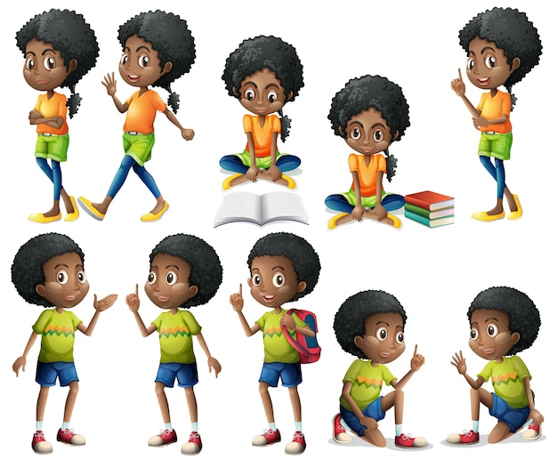 Niños afroamericanos