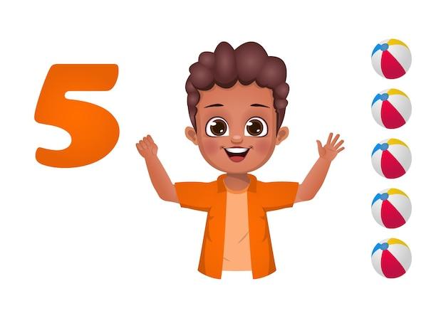 Los niños aprenden a contar números con los dedos.