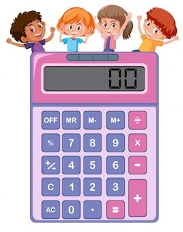 Niños en la calculadora