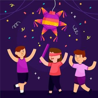 Niños celebrando posadas