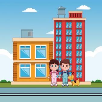Niños en la ciudad