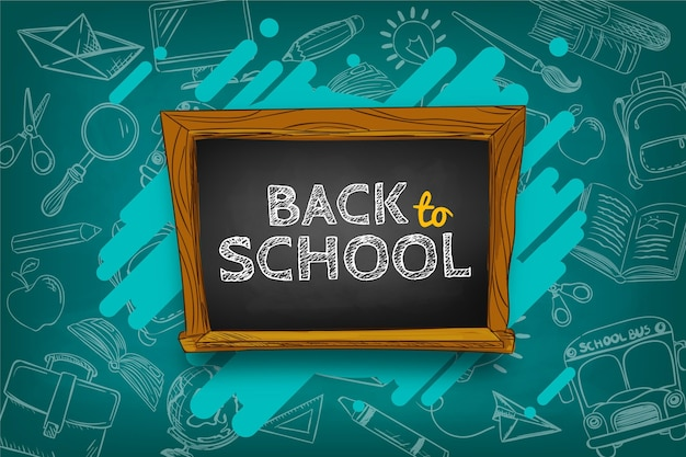 Niños dibujados a mano concepto de regreso a la escuela
