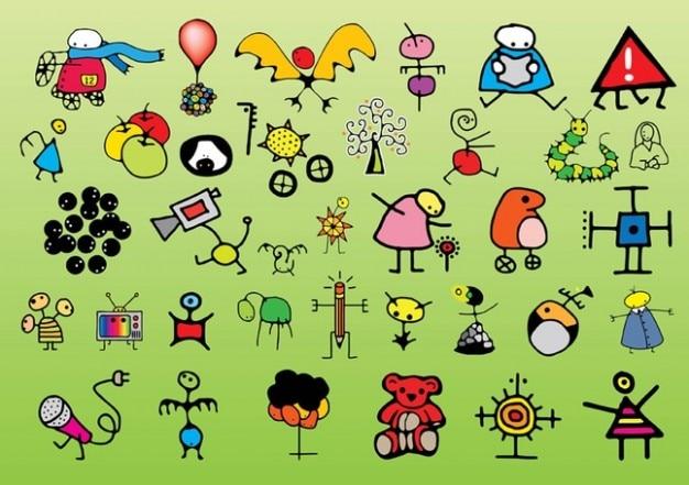 Los niños dibujos