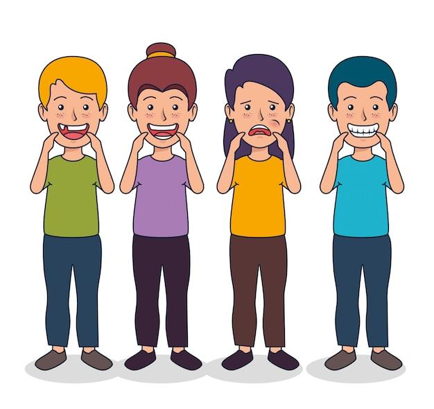 Niños dientes salud y medicina de higiene