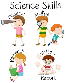 Niños y diferentes habilidades científicas