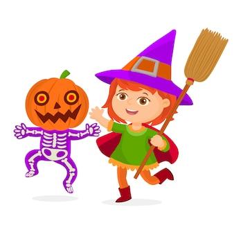 Niños disfrazados de halloween
