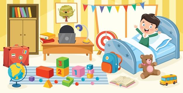 Niños divirtiéndose en una habitación