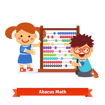 Los niños están aprendiendo matemáticas